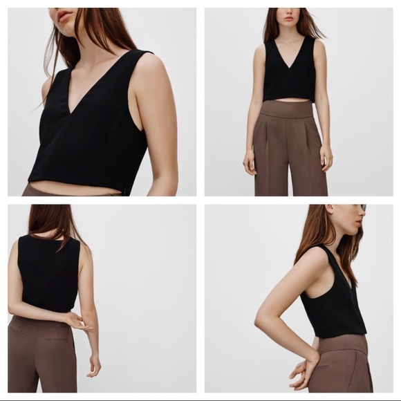 Wilfred Tops - NWT Wilfred Aritzia Size 8 Dauphine Crop Tank